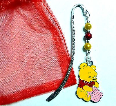 Winnie the Pooh Eating Honey Novelty Bookmark with Magic Beads great gift idea