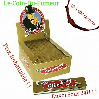 Feuilles à Rouler Smoking Slim Gold, Lot De 10 à 400 Carnets, Prix Imbattable !