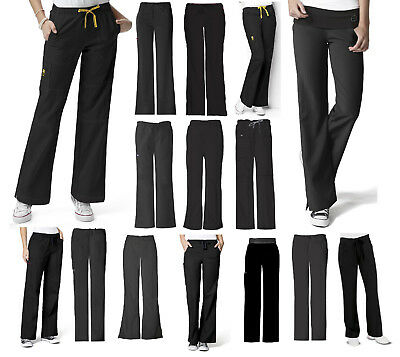 Black Scrub Pants - Wink, Dickies, Cherokee, Grey's - Choose Brand/Style/Size