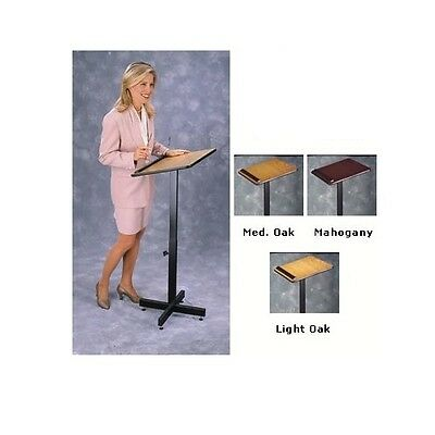 New Oklahoma Sound 70 Portable Presentation Adjustable 20 x 18.25 Lectern/Stand