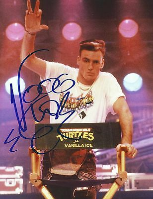 Autographed Signed 8x10 Photo Picture RAP Music Star: Vanilla Ice TMNT II