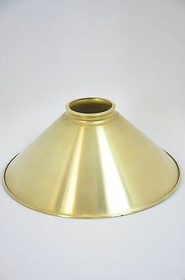 Unfinished Brass Spun Cone Shade 12 inch