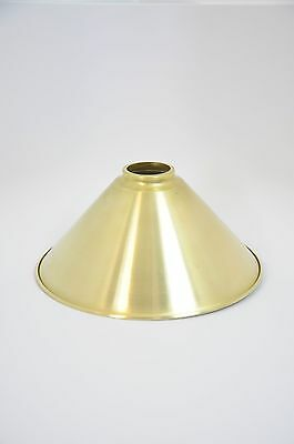 Unfinished Brass Spun Cone Shade 10 inch