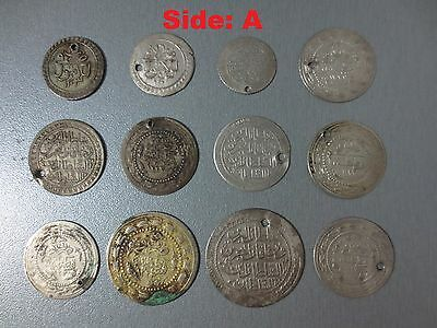 LOT of 12pcs LARGE SILVER OTTOMAN TURKISH TURKEY ISLAMIC COINS VERY RARE 38.77gr