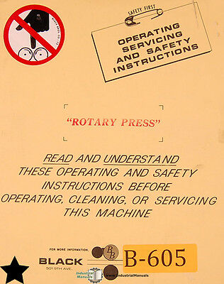 Black Brothers Rotary Press, Operations Service and Installation Manual