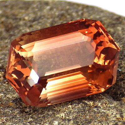 ORANGE PINK SCHILLER OREGON SUNSTONE 7.69Ct FLAWLESS-FOR AMAZING JEWELRY-VIDEO