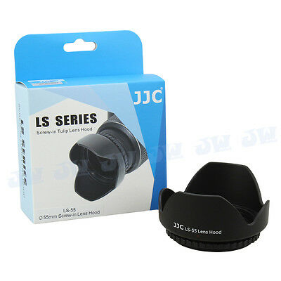 JJC LS-55 55mm Reversible Lens Hood for Sony DT 18-55mm f/3.5-5.6 SAM SAL1855