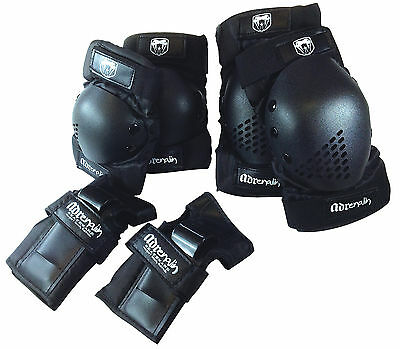 Adrenalin Skate Protection Elbow & Knee Pads Wrist Brace Guards 6 pieces Youth