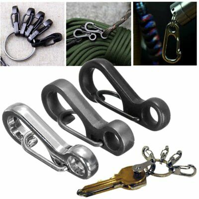 10x EDC Trigger Key Ring Split Keychain Clasps Clip Snap Hook Carabiner Sruvival