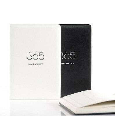 2017 A5 PU Leather 365 Schedule Daily Notebook Diary Flower Month Week Planner#A