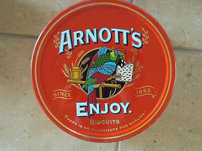 Vintage Arnotts Round Biscuit Tin.  Collectable. GC