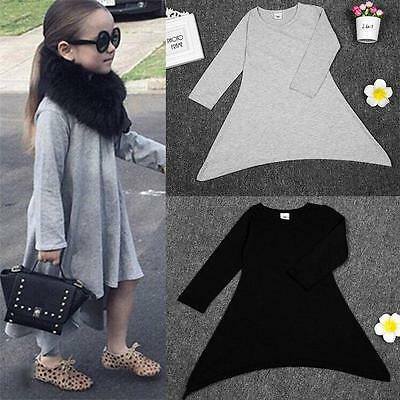 Toddler Baby Girls Long Sleeve Autumn T-Shirt Clothes Winter Tops Princess Dress
