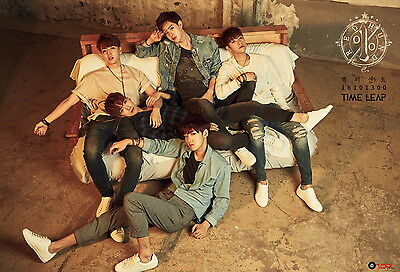 [100%] 3rd Mini Album [Time Leap] CD+Booklet+Photocard+Postcard+Poster NEW