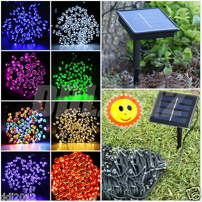 100/200 LED Solar Powered Christmas Wedding Party Outdoor Fairy String Lights