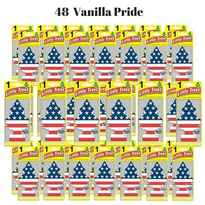 72 Units VANILLA PRIDE Little Trees Hanging Car & Home Scents Air Freshener
