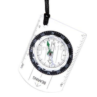 Mini Scouts Military Compass Scale Ruler Baseplate Compass for Camping Hiking au