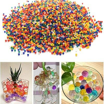 10000 x Pearl Crystal Shape Water Beads Bio Gel Ball Grow Magic Jelly Balls Hot