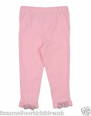 RALPH LAUREN baby girls pink bow back LEGGINGS w/ pony 18/24M (90cm) BNWT