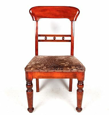 Antique Bedroom Chair Edwardian Nursing Chair Mahogany
