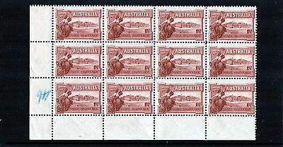 1927 1 1/2d Opening Of Parliament House Block Of 12, Mint Never Hinged, Clean