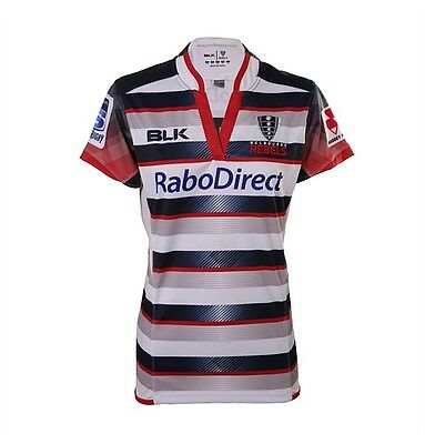Brand New Women's BLK Melbourne Rebels 2015 Rugby Sports Team Jersey T-shirt