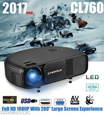 NEW Excelvan CL760 3200 Lumens LED Vídeo Proyector 1080P Home Cinema PR Móvil PC