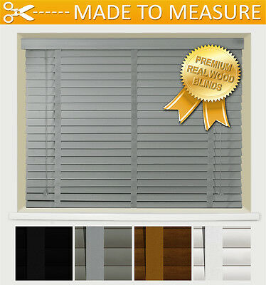 *premium* Venetian Blind With Tapes - Real Wood - 50Mm Slats - Taped