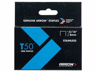 Arrow - T50 Staples Stainless Steel 505SS 8mm ( 5/16in) Box 1000