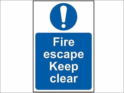 Scan - Fire Escape Keep Clear - PVC 200 x 300mm