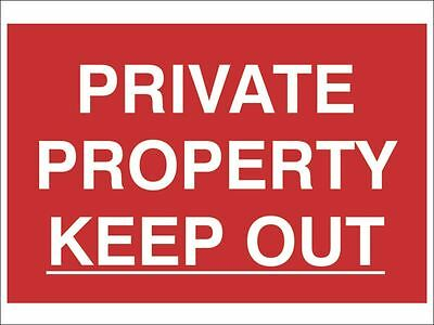 Scan - Private Property Keep Out - PVC 300 x 200mm