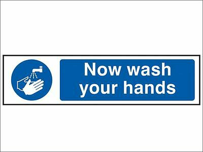 Scan - Now Wash Your Hands - PVC 200 x 50mm