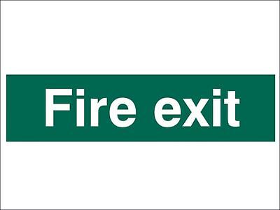 Scan - Fire Exit Text Only - PVC 200 x 50mm