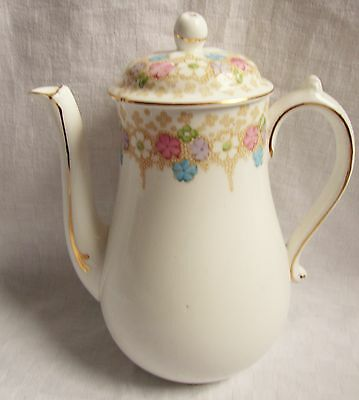 Plant Tuscan China Pretty Pastel Floral Coffee Pot - VGC