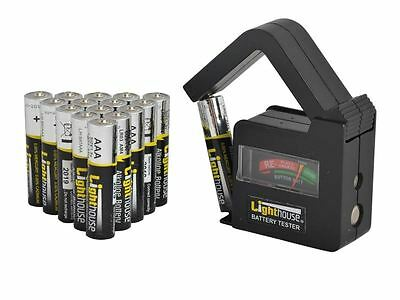 Lighthouse - AAA Batteries Bulk Pack (16) + Tester
