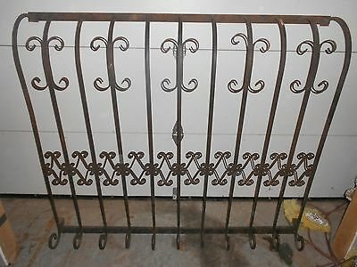 Vintage  Wrought Iron Window Guards Gates Protection Security