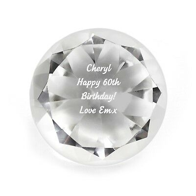 Personalised Engraved Diamond Paperweight - Christmas, Birthdays, Anniversary,