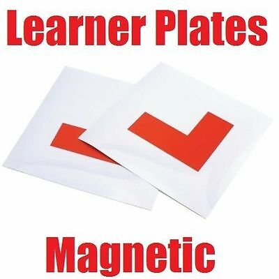 2 x Magnetic Exterior Car New Learner Driver L Plates - Secure & Safe - Pair