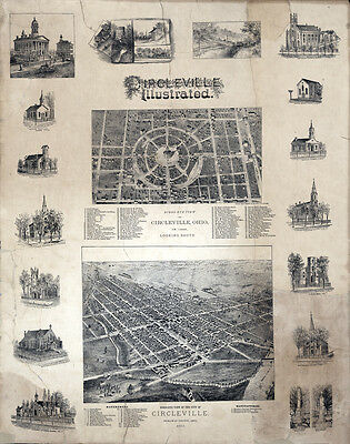 1878 Map of Circleville Ohio