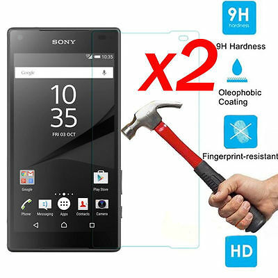 2X Premium Real Tempered Glass Film Screen Protector For Sony Xperia XZ