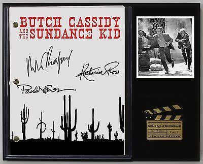 Butch Cassidy & Sundance Kid Reprinted Autograph Script Display USA Ships Free