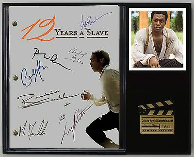 12 Years A Slave - Reprinted Autograph Hollywood Script Display - USA Ships Free