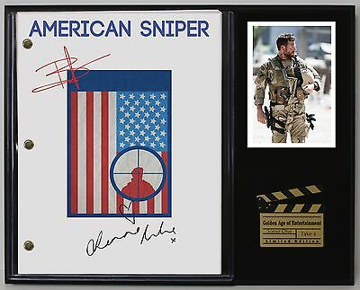 American Sniper - Reprinted Autograph Hollywood Script Display - USA Ships Free
