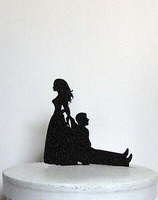 Funny and Unique Wedding Cake Topper - Bride Dragging Groom!