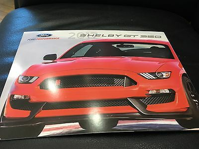 2017 Ford Shelby GT 350 Mustang 6-page Original Sales Brochure