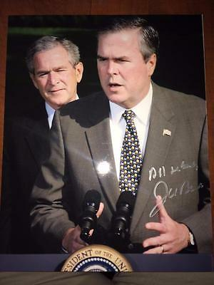 Jeb Bush 2016 Usa President Candidate Republican Signed 8X10 Photo Alg Holo Coa