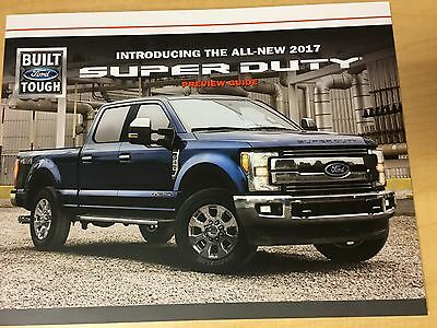 2017 Ford Super Duty 8-page Preview Guide  Original Sales Brochure
