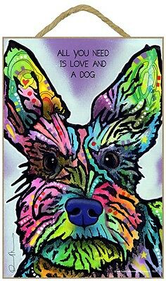 Schnauzer Sign – All You Need is Love & a Dog 7 x 10.5
