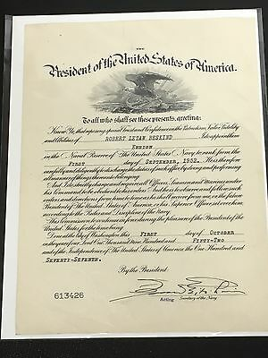 1952 US NAVY Officers Promotion Certificate - Ensign - $15.00 | PicClick