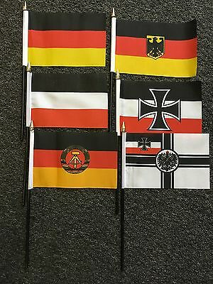 Germany Hand / Table Flag Military History WW1 WWI Eagle Crest Imperial German
