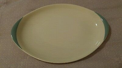 Rare Vintage Royal Doulton 1950's Vista 12 inch Oval Serving Platter Turquoise